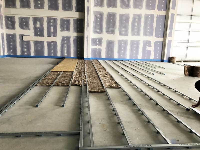 concrete floating floor system