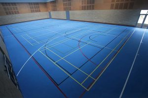 sports hall surfacing