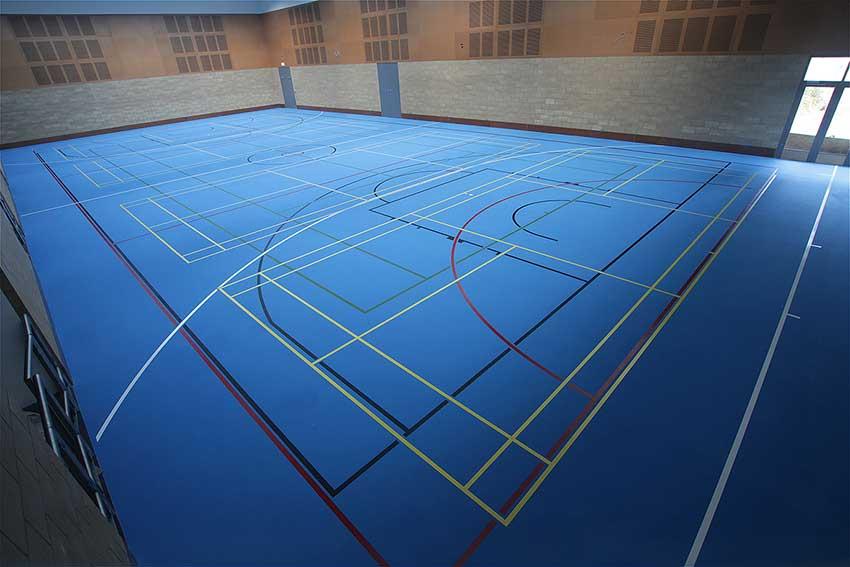 sports hall surfacing