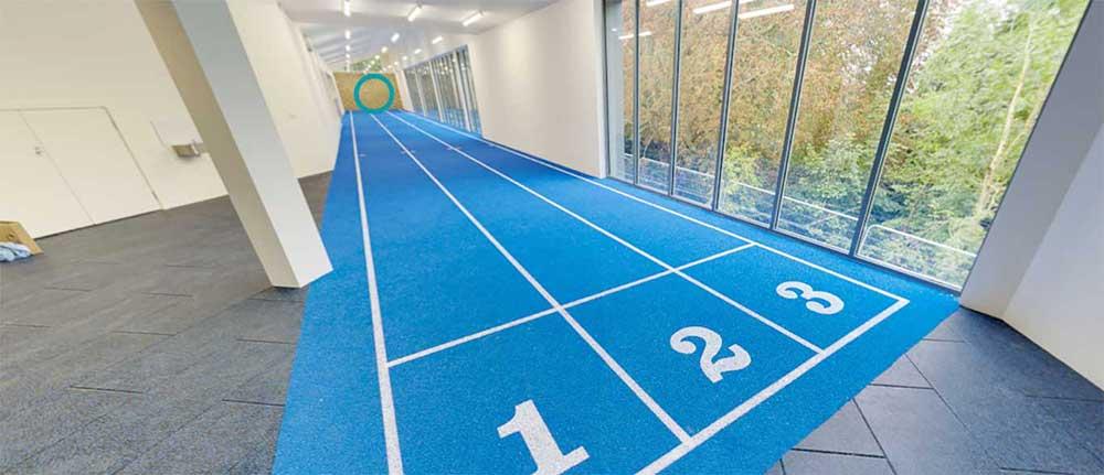 indoor athletic track