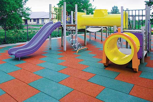 outdoor playground tiles