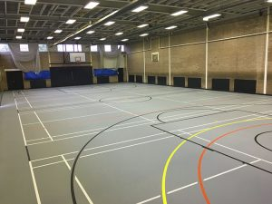 sports hall flooring newcastle academy